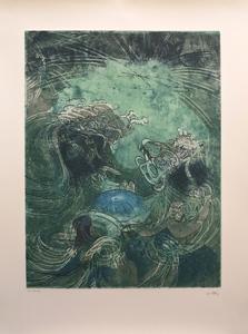 """罗贝托•马塔 - 版画 - Hom'mere Chaosmos entitled """"Elle fut la rosee"""""""