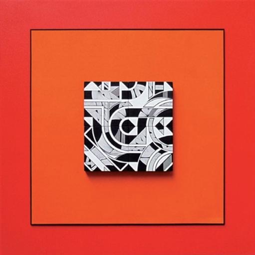 Michel BISBARD - Sculpture-Volume - Tableau magnétique orange