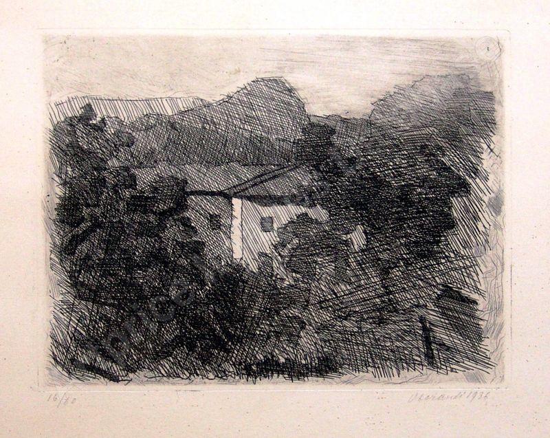 Giorgio MORANDI - Estampe-Multiple - Paesaggio di Roffeno