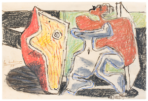 LE CORBUSIER - Drawing-Watercolor - Untitled