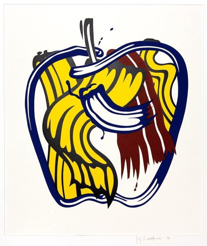 Roy LICHTENSTEIN - Estampe-Multiple - Apple
