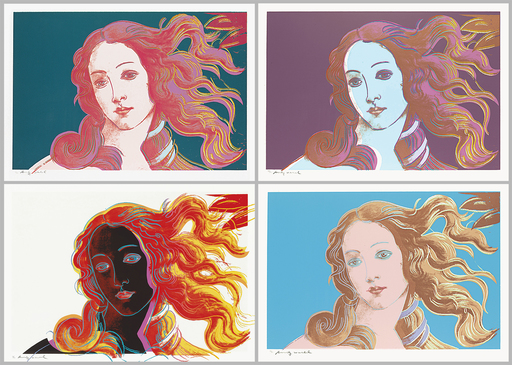 Andy WARHOL - Grabado - Details of Renaissance Paintings (Botticelli)