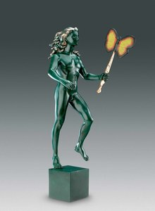Salvador DALI - Sculpture-Volume - Man With Butterfly, Homme au papillon