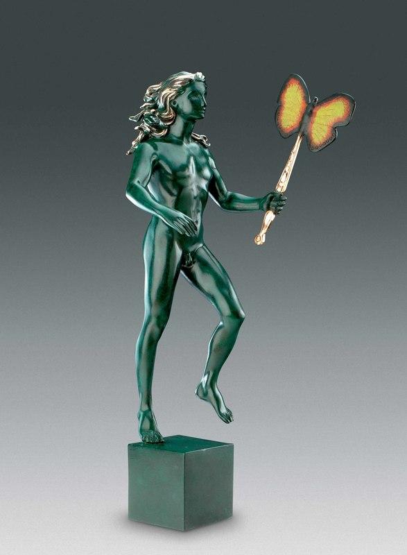 萨尔瓦多·达利 - 雕塑 - Man With Butterfly, Homme au papillon