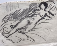 René SEYSSAUD - Drawing-Watercolor - Femme nue