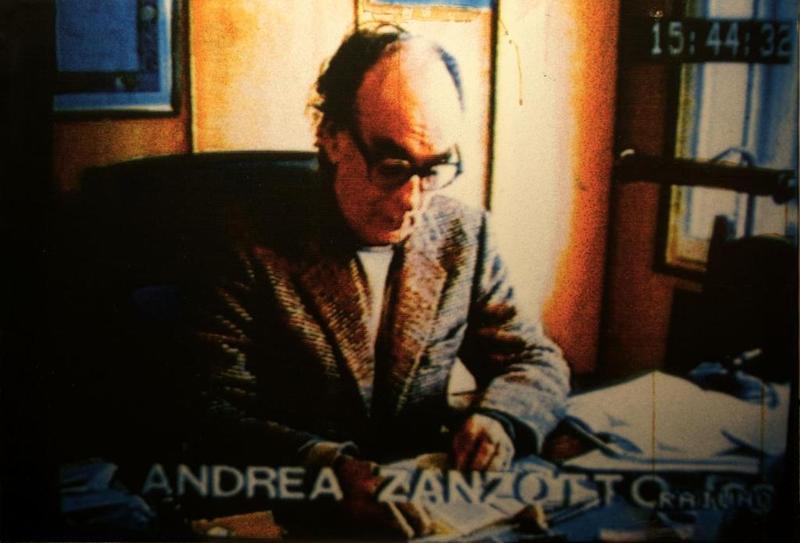 Mario SCHIFANO - Fotografia - S.T. (ritratto di Andrea Zanzotto)