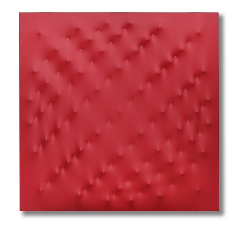 恩里克•卡斯特拉尼 - 绘画 - Estroflessione rossa