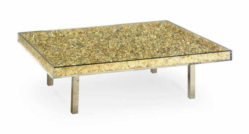 Yves KLEIN - Monogold table