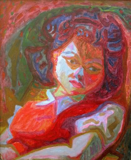 Hernando VIÑES SOTO - Painting - La portera de Viñes