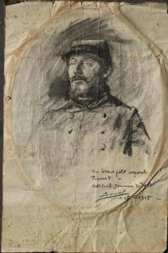 Lucien Hector JONAS - Dibujo Acuarela - LE CAPORAL PREVOST