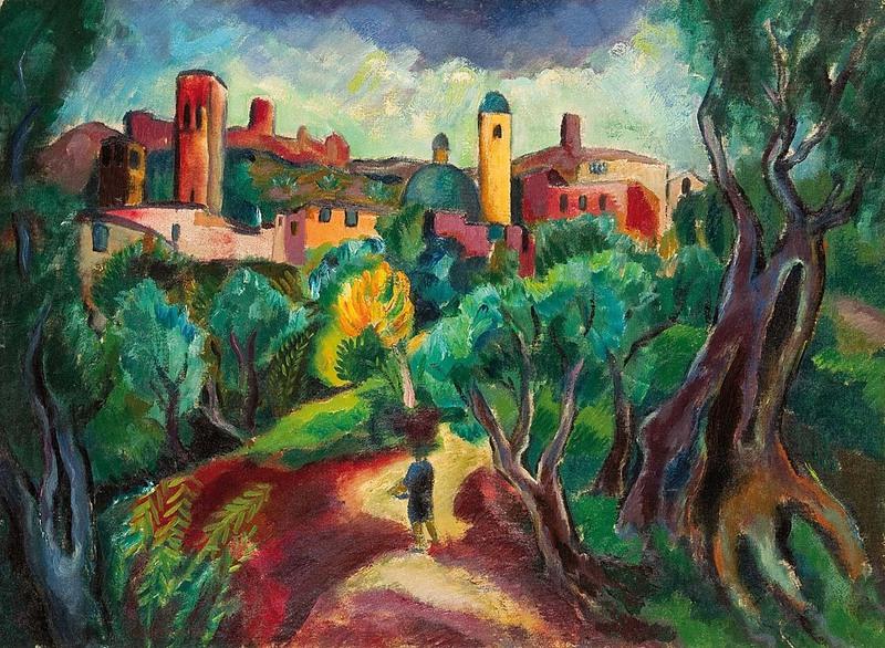 Josef EBERZ - Peinture - Landschaft bei Santa Chiara