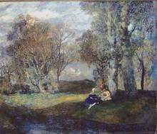 Boris Israelewitsch ANISFELD - Pittura - NEAR THE LAKE