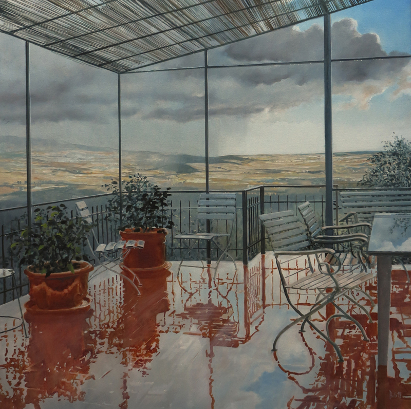 Henning VON GIERKE - 绘画 - Himmel auf Erden, Montalcino