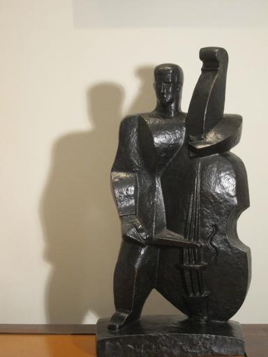 Pablo CURATELLA MANES - Sculpture-Volume - Contrebassiste (El hombre del contrabajo)