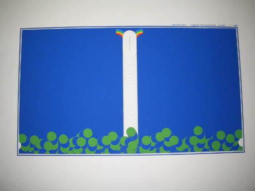 Sato ADO - Stampa-Multiplo - First born,fond bleu,1977.