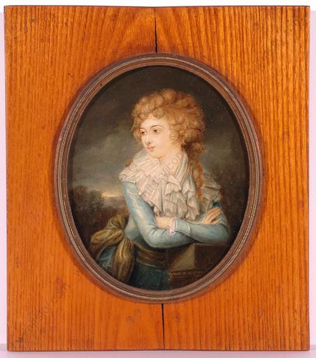 """Josef GRASSI (Attrib.) - Miniatur - """"Countess Domicella Mostowska-Siekierzynska"""", Large Oil Mini"""