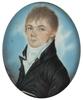 "Eustachius KLIMO - Zeichnung Aquarell - ""Portrait of a Czech Gent"" miniature, ca 1810"