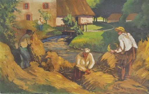 Jean-Pierre CAPRON - Peinture - fenaison
