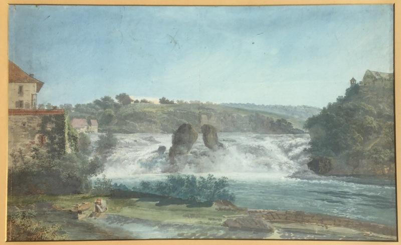 Johann Georg VOLMAR - Dibujo Acuarela - Chutes et larmes