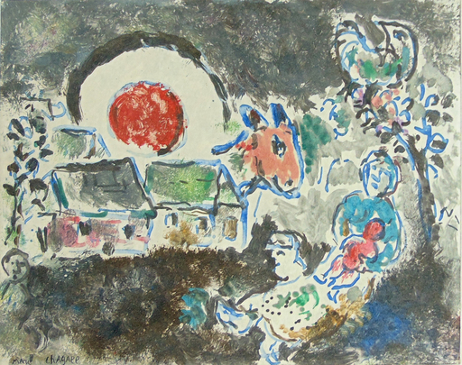 Marc CHAGALL - Print-Multiple -  The Rest | Le Repos