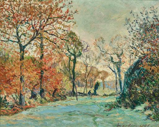 Maxime MAUFRA - Painting - Gelée blanche en automne