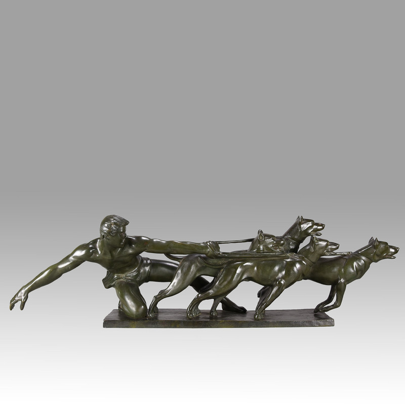 Alexandre KELETY - Sculpture-Volume - Art Deco Bronze Group 'The Release'