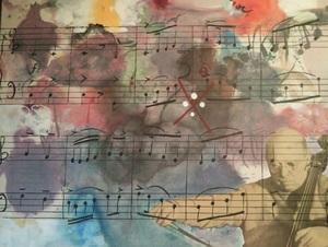 Modesto CUIXART - Painting - Homenaje a Pau Casals