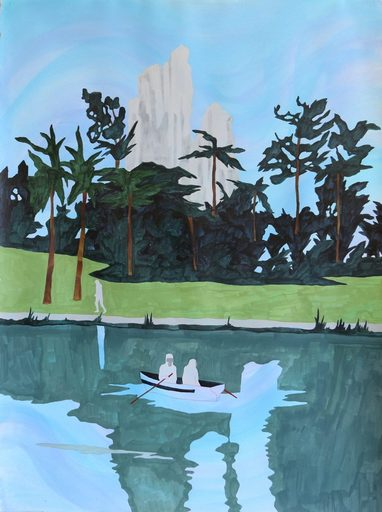Marie LARRIVÉ - Drawing-Watercolor - « LE ROCHER BLANC »