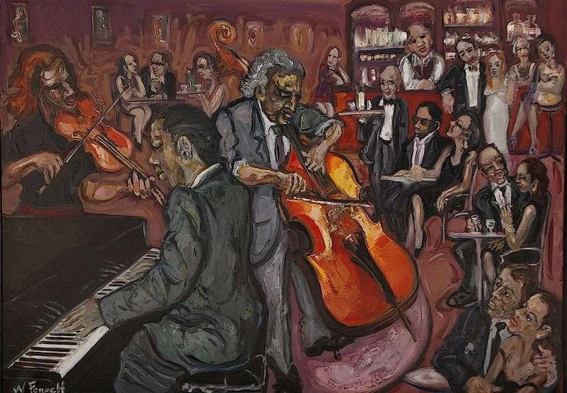 William FENECH - Peinture - le club