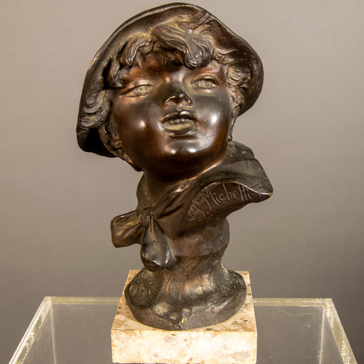Francesco Paolo MICHETTI - Escultura - Scultura in bronzo firmata F.P. Michetti