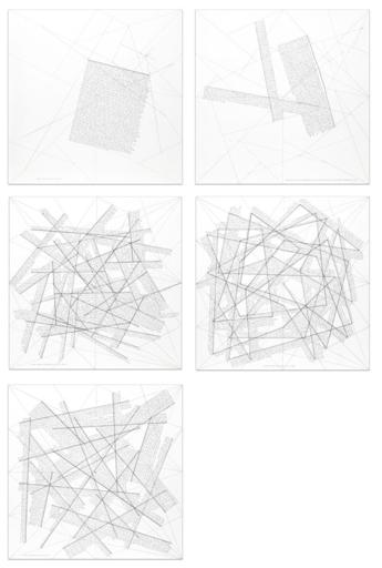 Sol LEWITT - Estampe-Multiple - The location of lines (portfolio of 5)