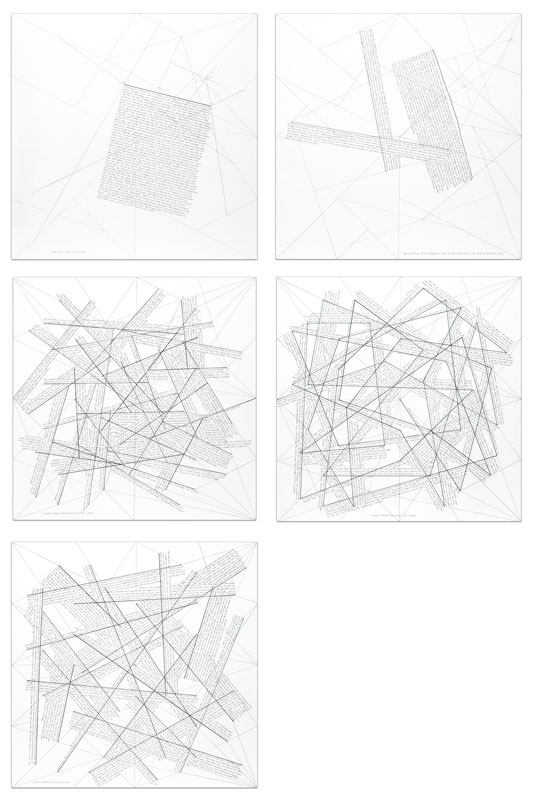 Sol LEWITT - Print-Multiple - The location of lines (portfolio of 5)