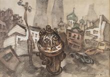 Oskar RABIN - Drawing-Watercolor - Fire Hydrant