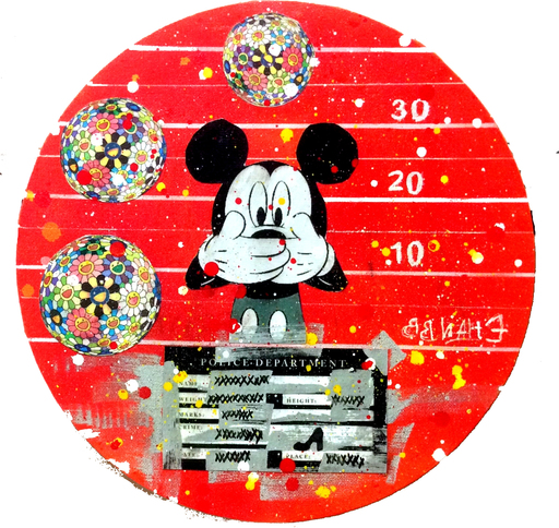 Ethan BANG-BANG - Pintura - Police Privacy Mickey