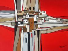 Brigitte THONHAUSER-MERK - Pintura - Village Abstrait