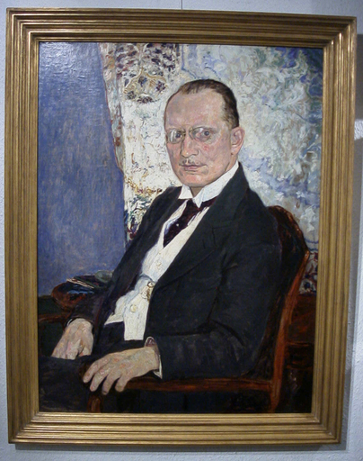 Bernhard PANKOK - Peinture - Bildnis Dr. Ludwig Möller