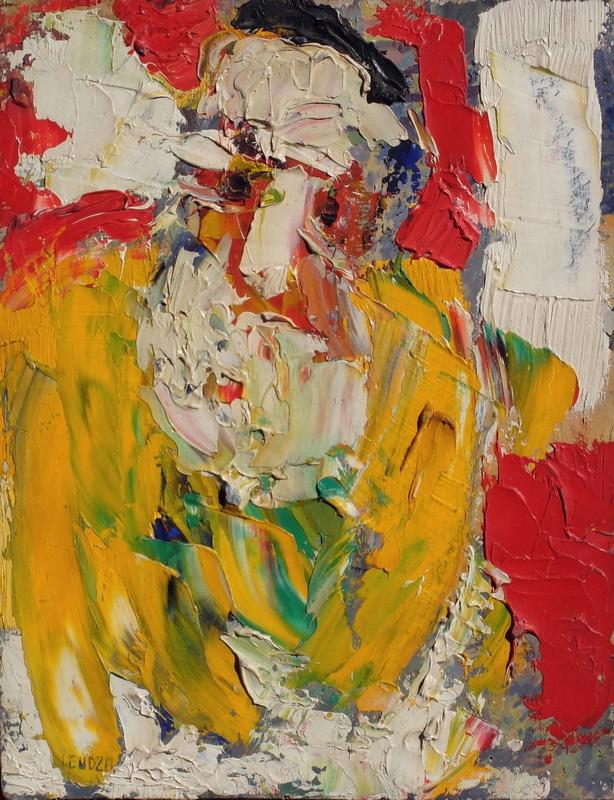 Jacques ENDZEL - Peinture - Le rabbin