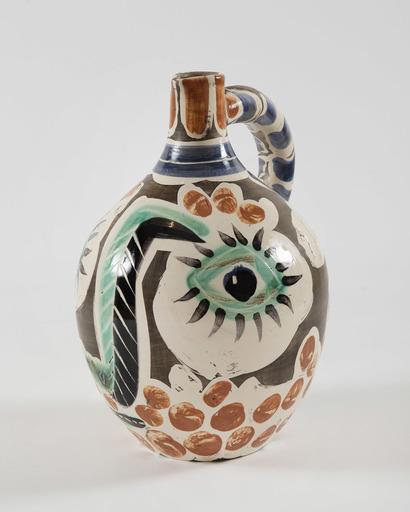 巴勃罗•毕加索 - 陶瓷  - Visage au nez noir, (A.R.609)