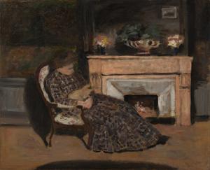Albert ANDRÉ - Gemälde - Maleck et son chat