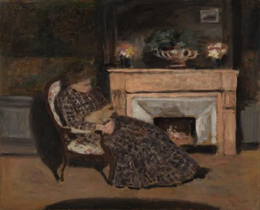Albert ANDRÉ - Peinture - Maleck et son chat