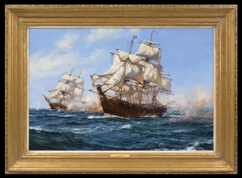 Montague J. DAWSON - Painting - The Privateer 'Virginian' capturing the 'Petit Madelon'