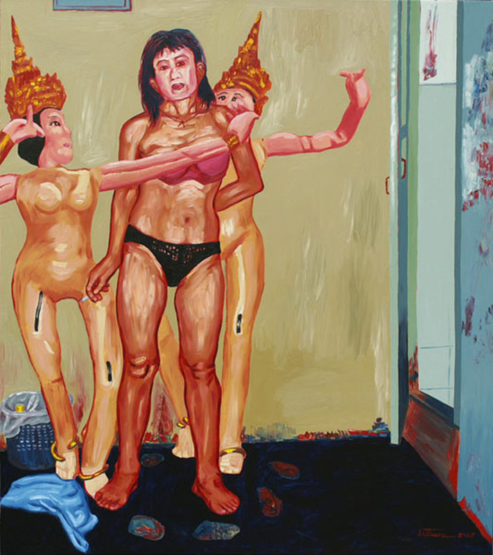 Kritsana CHAIKITWATTANA - Painting - Venus in a Thai Contemporary Dance