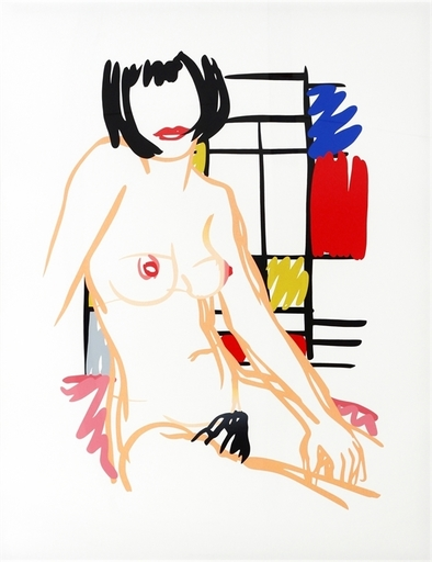 Tom WESSELMANN - Stampa-Multiplo - Monica sitting with Mondrian