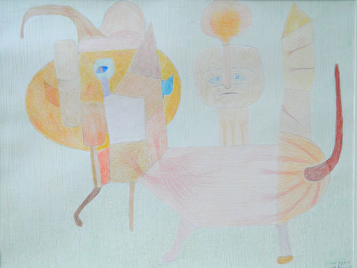 Paul GERARD - Dibujo Acuarela - PERSONNAGE FANTASTIQUE