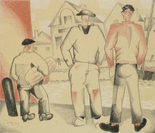 Jean Émile LABOUREUR - Print-Multiple - The Fishermen and the Cabin Boy