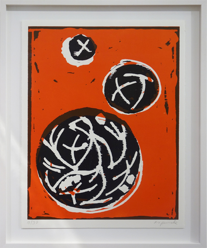 A.R. PENCK - Estampe-Multiple - 3 Planeten