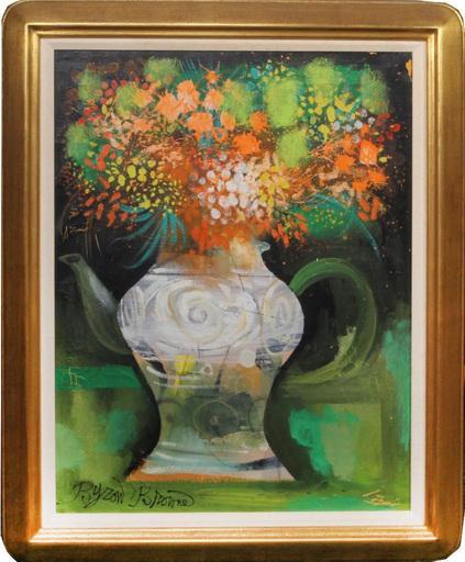 Byron George BROWNE - Painting - Flowers