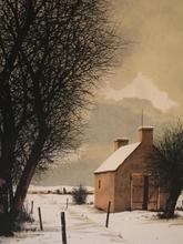Jacques DEPERTHES - Grabado - La cabane en hiver,1985.
