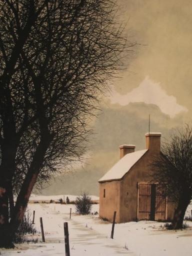 Jacques DEPERTHES - Stampa Multiplo - La cabane en hiver,1985.