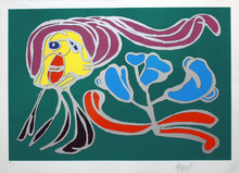 Karel APPEL - Grabado - Green Passion